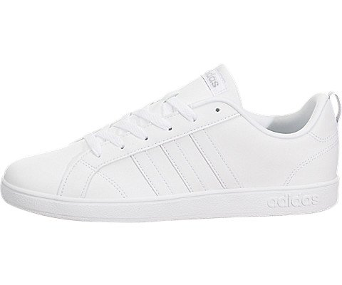 Adidas Neo Advantage VS K Sneaker (Little Kid/Big Kid),White/White/Silver,13 M US Little Kid - Signature Silver Sneakers Shoes