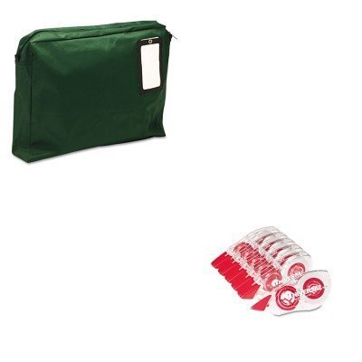 KITMMF2342814L02UNV75606 - Value Kit - MMF Expandable Dark Green Transit Sack (MMF2342814L02) and Universal Correction Tape with Two-Way Dispenser (UNV75606) by MMF