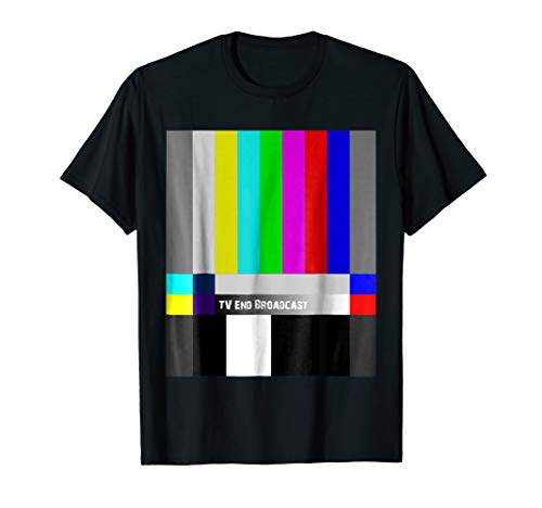 TV End Broadcast T-Shirt SMPTE Color Bars Graphic Tee
