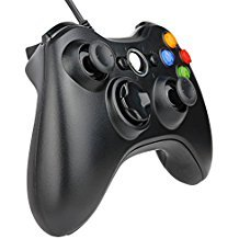 Kycola SL11 Xbox 360 Wired Controller USB Gamepad For Microsoft Xbox 360/PC Windows (Black)