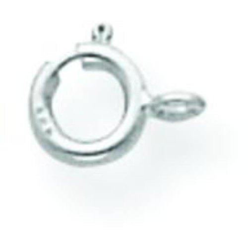 14K White Gold Spring Ring Clasp
