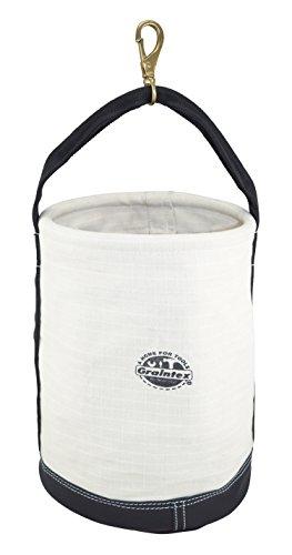 Graintex CB2344 Utility Canvas Bucket Leather Bottom W/Swivel Snap Hook 18