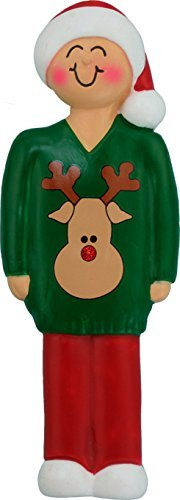 Ugly Sweater 1 Person Ornament