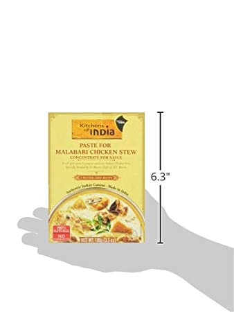 Amazon.com : Kitchens Of India Paste For Malabari Chicken Stew, 3.5 Ounce  (Pack Of 6) : Packaged Indian Dishes : Grocery U0026 Gourmet Food