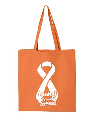 Lung Cancer Awareness Ribbon Support Tote Handbags Bags for Work School Grocery Travel (GSOR)