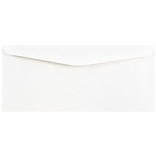 JAM PAPER #10 Business Commercial Envelopes - 4 1/8 x 9 1/2 - White - Bulk 500/Box (Commercial 500 Envelopes)