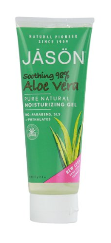- Jason Pure Natural Moisturizing Gel, Soothing 98% Aloe Vera, 4 Ounce (Pack of 6)