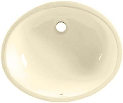 American Standard 0496.221.021 Ovalyn 17-Inch Basin Undercounter Bathroom Sink, Bone