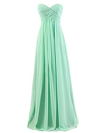 Dresstells Sweetheart Bridesmaid Chiffon Prom Dresses Long Evening Gowns Mint Size 4