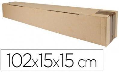 Q-Connect Caja Para Embalar Tubo Medidas 1020X150X150 Mm Espesor Cartón 3 Mm: Amazon.es: Oficina y papelería