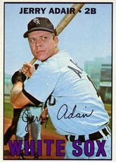 1967 Topps Regular (Baseball) Card# 484 jerry adair of the Chicago White Sox VGX Condition by Topps