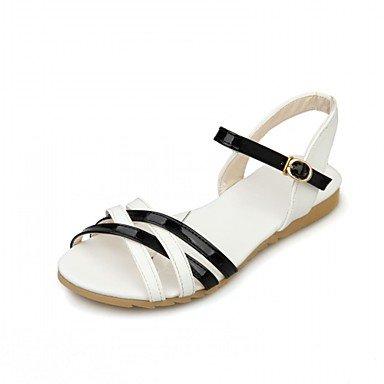 RUGAI-UE Moda de Verano Mujer sandalias casuales zapatos de tacones PU Confort caminar al aire libre,Negro,US4-4.5 / UE34 / REINO UNIDO2-2.5 / CN33 Black