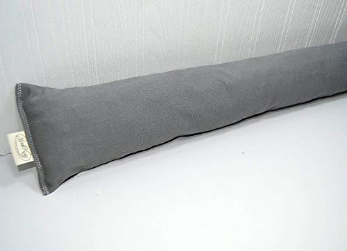 Draft Stopper 48 inch Cedar Fill Extra Long Farmhouse Gray Cotton Twill