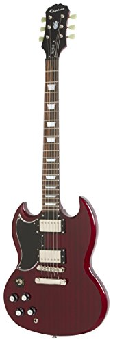 Epiphone G-400 Pro Electric Guitar with Coil-Splitting, Left Handed, Guitar, Cherry - Tuneomatic Bridge Epiphone