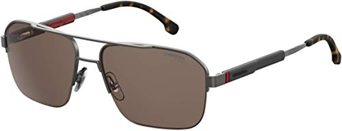 (Carrera 8028/S Sunglasses CA8028S-0R80-70-5917 - Semi Matte Dark Ruthenium Frame, Brown Lenses,)