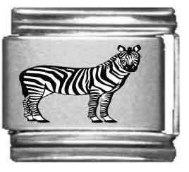 Zebra Laser Italian Charm