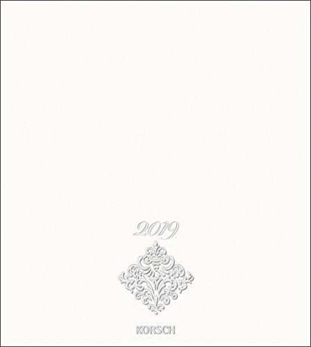 Foto-Malen-Basteln Bastelkalender Premium weiß 2019: Fotokalender zum Selbstgestalten. Do-it-yourself Kalender mit festem Fotokarton. Edle Folienprägung. Format: 21,5 x 24 cm