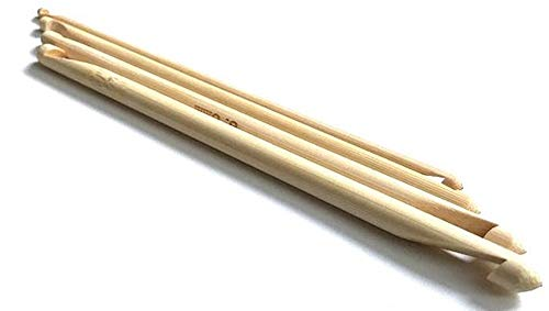 Brand New Double Ended Tunisian Bamboo Crochet Hook 4 Sizes: 7.0 mm G H J Set