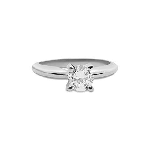 1/2 Carat GIA Certified Diamond Ring in Solitaire 4 Prong in Platinum