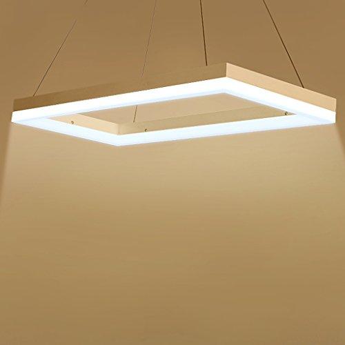 (Mingteng LED,Chandelier,Commercial Office Lighting,Rectangular Pendant,Bedroom,Restaurant,Bar Light,(24W,60CM) (Color : White light 6030cm) )