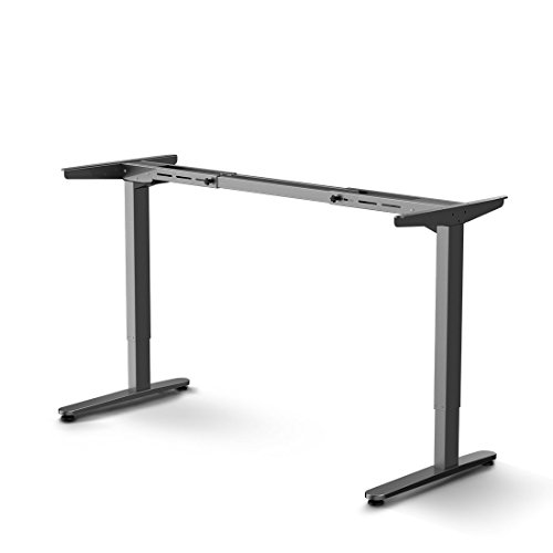 Flexispot E2S Electric Height Adjustable Desk Anti-Collision Technology Heavy Duty Desk Leg Silver Frame Only