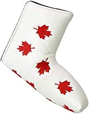 DYNWAVE Waterproof Golf Blade Putter Headcover Club Covers Protector Maple Leaf