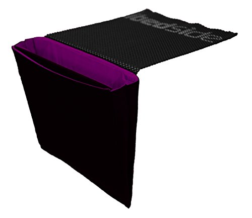 iBedside: Tidy Bedside Caddy for phones, tablets, laptops, watches & more (Black & Magenta)