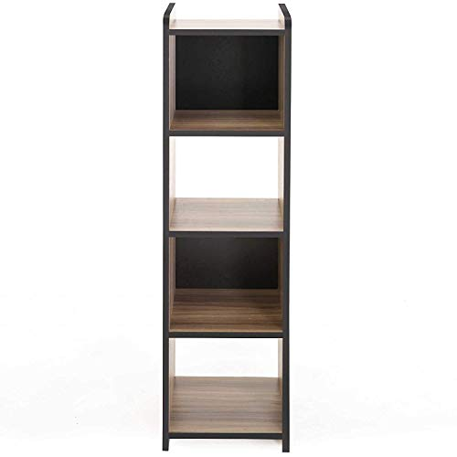 (FITUEYES Cubeicals Bookcase Vertical Organizer Media Tower Storage Shelves CD Racks and Stands BBC503201WB)