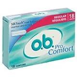 O.B. Pro Comfort Regular Tampons-18 ct
