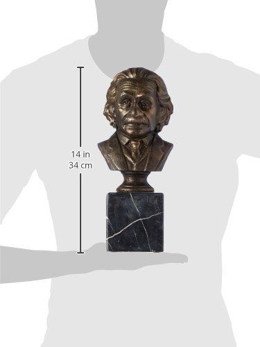 Design Toscano Albert EINSTEN Bust on Marble Base