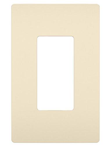 Legrand - PASS & SEYMOUR RWP26LACC6Radiant Single Gang Screwless Plastic Wall Plate, Decorative Wall Plate, Light Almond