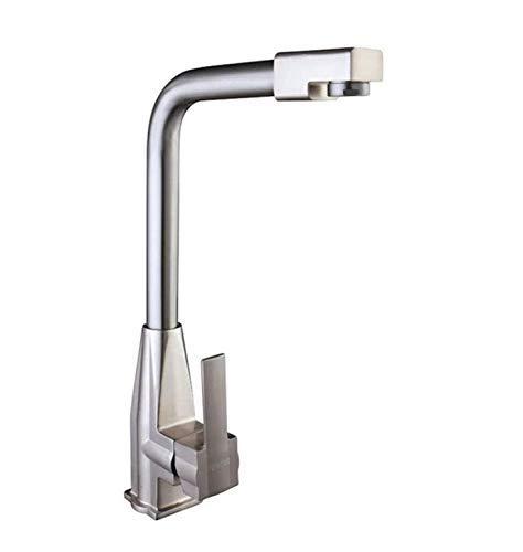 Basin Taps Swivel Spout Faucet Zinc Alloy Double Kitchen Faucet Single Hole redating Vegetable Pot Cold and Hot Water Faucet