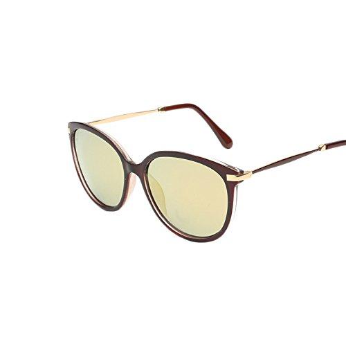 Sakuldes Color Polarized Vintage UV400 Rétro Purple Sunglasses Thin Yellow Style rHrwpq