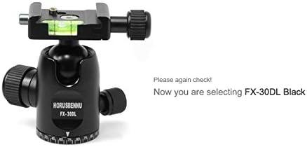 HORUSBENNU DSLR Camera Monopod Tripod Ball Head FX-30DL Black with Dovetail Plate