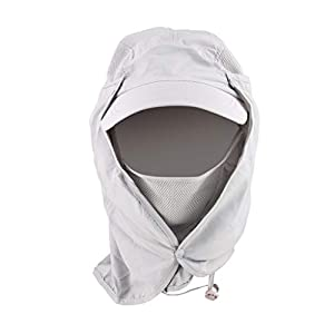 ELECTOMANIA Fishing Hat 360°UV Protection Sun Hat Summer Men Women Cap Folding Removable Neck Face Mask Head Flap Cover…