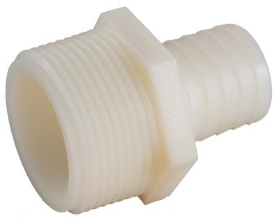 Anderson Metals 53701-0812 Pipe Fitting, Nylon Hose Barb, 1/2 ID x 3/4-In. MPT - Quantity 5