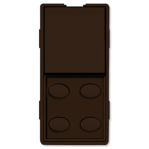 Simply Automated UPB Faceplate, Single Rocker & 4 Oval Buttons, Brown (ZS25O-BN) (Oval Faceplate)