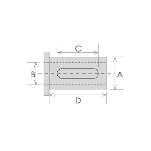 HHIP 3900-2919 C Type Tool Holder Bushing, 1-1/2'' OD x 5/8'' ID