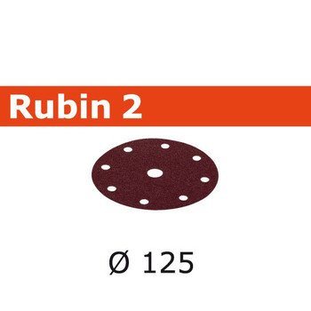 499093, Festool Rubin Abrasive 5 in, 40 Grit, 50 pcs