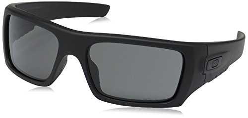 Oakley Men's OO9253 Det Cord Rectangular Sunglasses, Matte Black/Grey, 61 ()