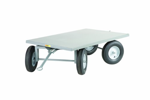 Little-Giant-CT-3660-16P-Steel-Double-5th-Wheel-Steer-Tracking-Trailer-2000-lbs-Capacity-60-Length-x-36-Width-x-19-Height