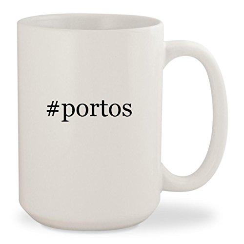 fan products of #portos - White Hashtag 15oz Ceramic Coffee Mug Cup