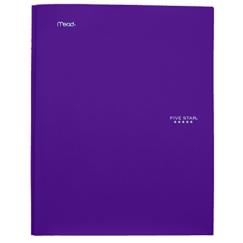 """043100340300 - Five Star Pocket Folder, 2 Pocket Stay-Put Plastic Folder, 11-5/8"""" x 9-5/16"""", Color Selected For You May Vary (34030) carousel main 14"""