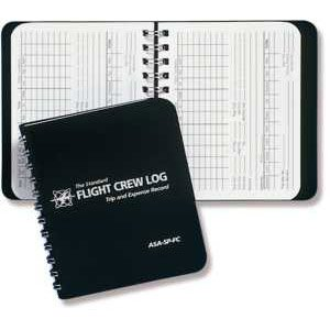ASA Black Flight Crew Logbook (Pilot Log Book)