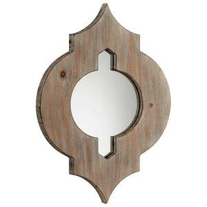 - Cyan Lighting 05103 Turk - 13.25 Inch Small Mirror, Washed Oak Finish