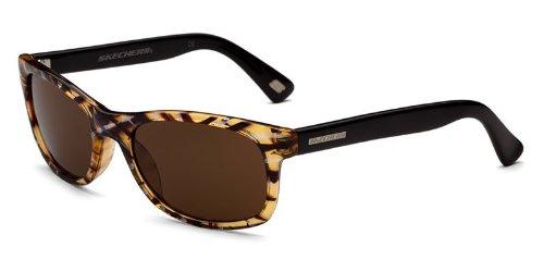 Skechers SK 4037 BRNST Brown Stripe Wayfarer - Sunglasses 4037