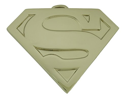 Superman S Logo Shield Silver Unisex Kids Youth Size Belt Buckle Costume Metal (Superman Silver Shield)