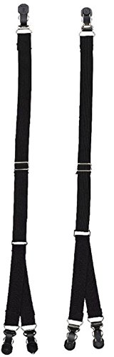 Stirrup Style Handle (Black Shirt Stays White Shirt Stays Shirt Stay Belt Straight Stirrup Y Style)