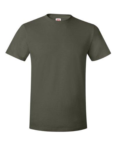 Hanes - Camiseta - para hombre Verde Verde Fatiga Small