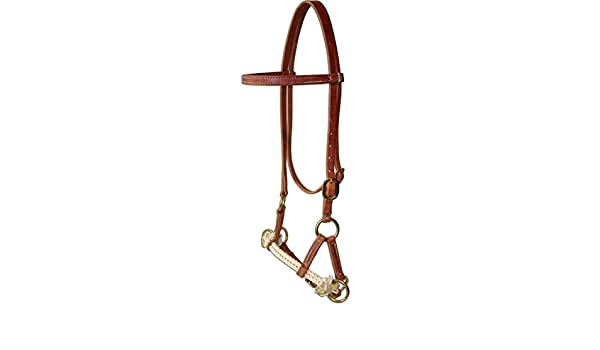 Amish USA Horse Tack Hermann Oak Leather Double Rope Side Pull
